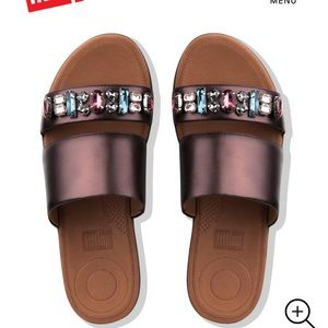 596a5bb67 Fitflop Shoes - Fitflop Delta Bejeweled Berry Slide Sandals Shoes
